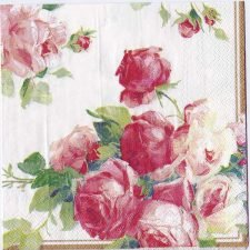 Decoupage Paper Art Napkin | Victoria Rose on White
