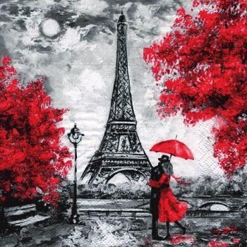 Romantic scene in Paris