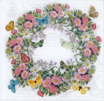 Flower wreath butterfly