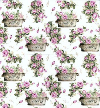 pink roses flower pot