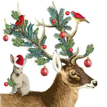 Christmas buddies deer birds