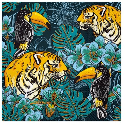 BUY4 get 2 FREE Paper Napkins for Decoupage Crafts Safari Animals Serviette x2