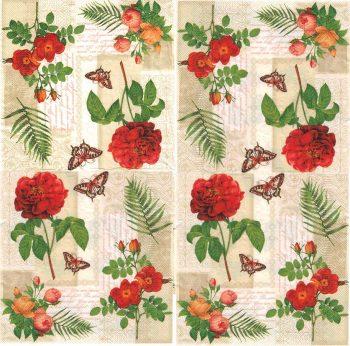 Vintage red roses