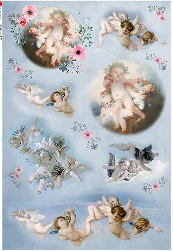 Decoupage Rice Paper Angels Italian Mulberry Paper