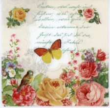 Event Paper Napkins Butterfly Roses Poem