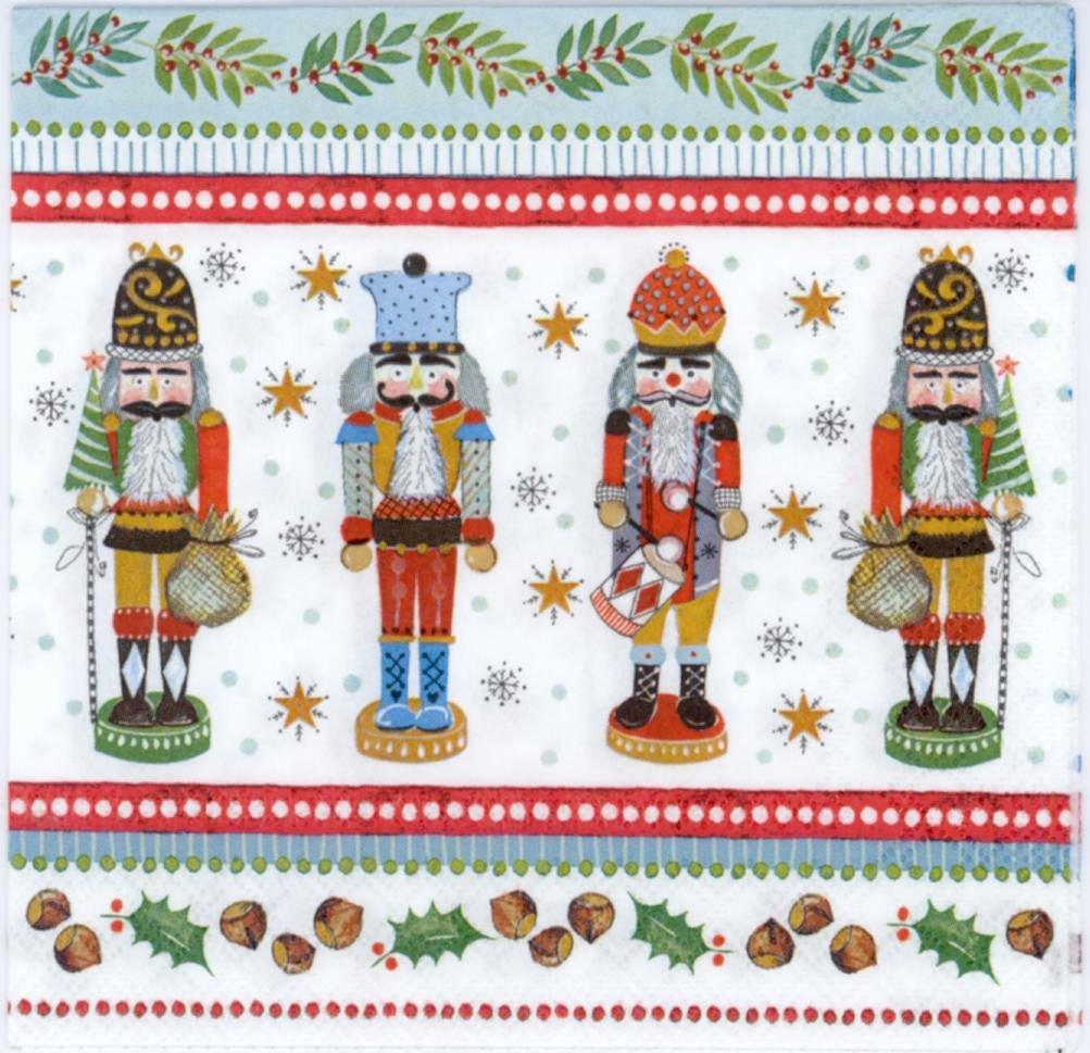 Decoupage Napkins Christmas Nutcrackers Napkins