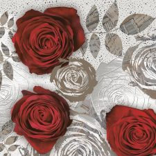 Decorative Paper Napkins of Really Red Roses