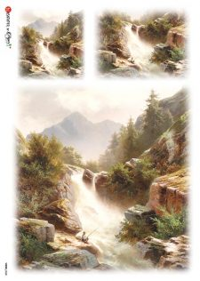Decorative Rice Paper | Mountain River in Spring