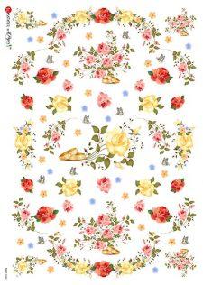 Decorative Rice Paper   Roses & Wedding Rings