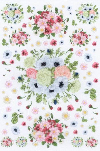 Decoupage Mulberry Paper Medley of Flowers