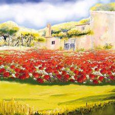Decoupage Napkin | Field of Poppies
