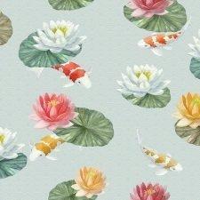 Decoupage Napkin | Koi Pond & Water Lilies