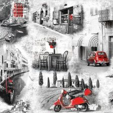 Decoupage Napkin | Pictures of Italy