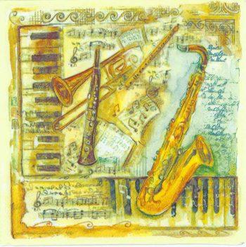 Jazz Band | Music Napkins | Paper Napkins for Decoupage