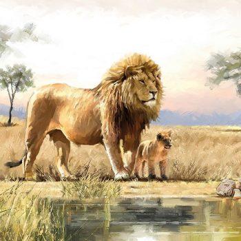 Decoupage Napkins | Lion Father & Son