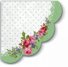 Decoupage Napkins | Mary Roses with Round Frame