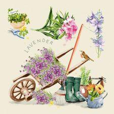 Decoupage Napkins of Vintage Lavender Garden