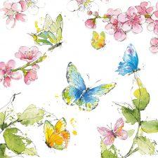 Decoupage Paper | Butterflies & Blossoms Napkins