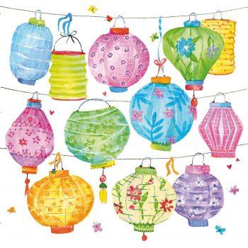 Decoupage Paper Napkins | Chinese Lanterns