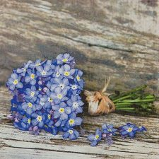 Decoupage Paper Napkins | Forget-Me-Not Flowers