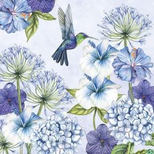 Decoupage Paper Napkins | Hummingbirds in Blue Decoupage Paper | Chiarotino