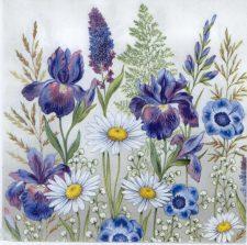Decoupage Paper Napkins | Irises & Daisies