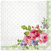 Decoupage Paper Napkins | Mary Roses with Frame