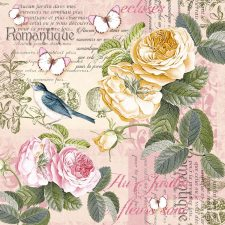 Decoupage Paper Napkins | Romantic Yellow & Pink Roses