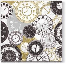 Decoupage Paper Napkins | Vintage Clock Faces