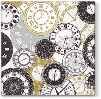 Decoupage Paper Napkins | Vintage Clock Faces