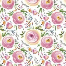 Decoupage Paper | Pink Roses in Watercolor Napkins