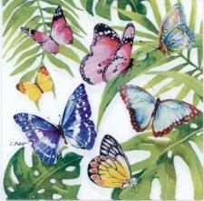 Decoupage Paper | Tropical Butterflies | Butterfly Napkins