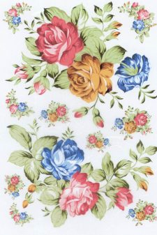 Decoupage Rice Paper | Blue & Yellow & Pink Roses