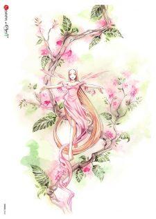 Decoupage Rice Paper | Cherry Blossom & Fairy