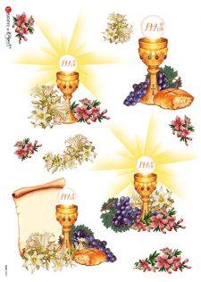 Decoupage Rice Paper | Communion Chalice & Bread