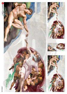 Decoupage Rice Paper | Creation of Adam Michelangelo