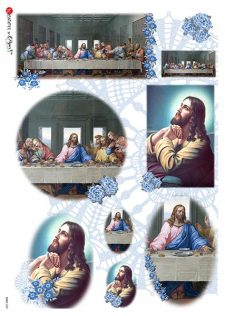 Decoupage Rice Paper | Jesus & The Last Supper
