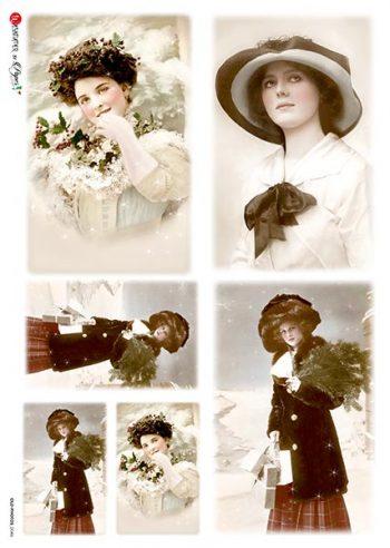 Decoupage Rice Paper | Photos of Vintage Fashion Ladies