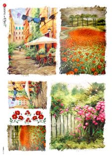 Decoupage Rice Paper | Poppy Field & Rose Gate