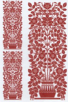 Decoupage Rice Paper | Red Vintage Vase of Flowers A4