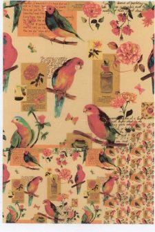 Decoupage Rice Paper Sheet   Birds & Flowers