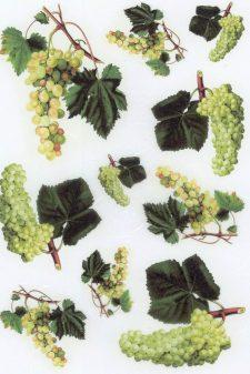 Decoupage Rice Paper Sheet | Green Grapes