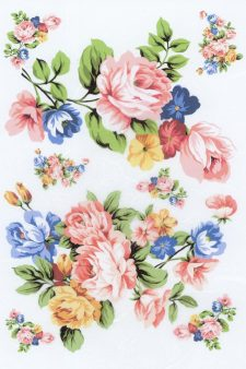 Decoupage Rice Paper Sheet | Pink Yellow Blue Roses