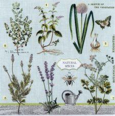Paper Napkins Herbs Spices Garden