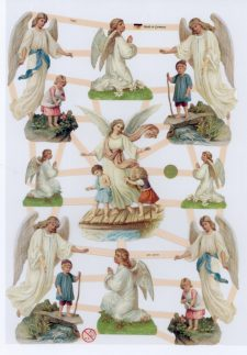 Embossed Die-cut Paper | Children with Guardian Angels