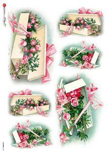 pink rose rice paper