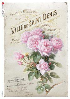 Decoupage Rice Paper Classic Romantic Roses