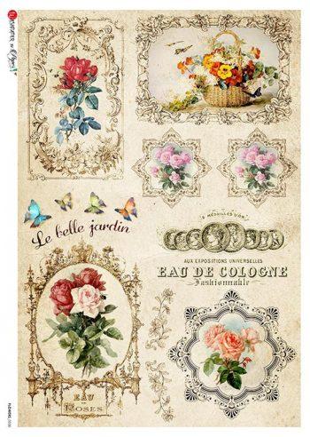 vintage flower & frame