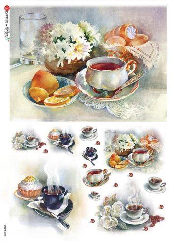 Decoupage Rice Paper Breakfast Tea Coffee