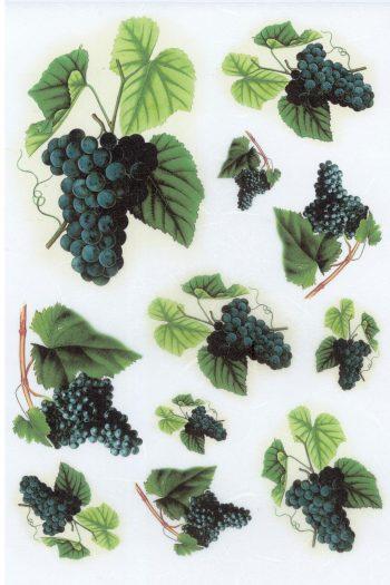 Italian Decoupage Rice Paper Sheet | Blue Grapes